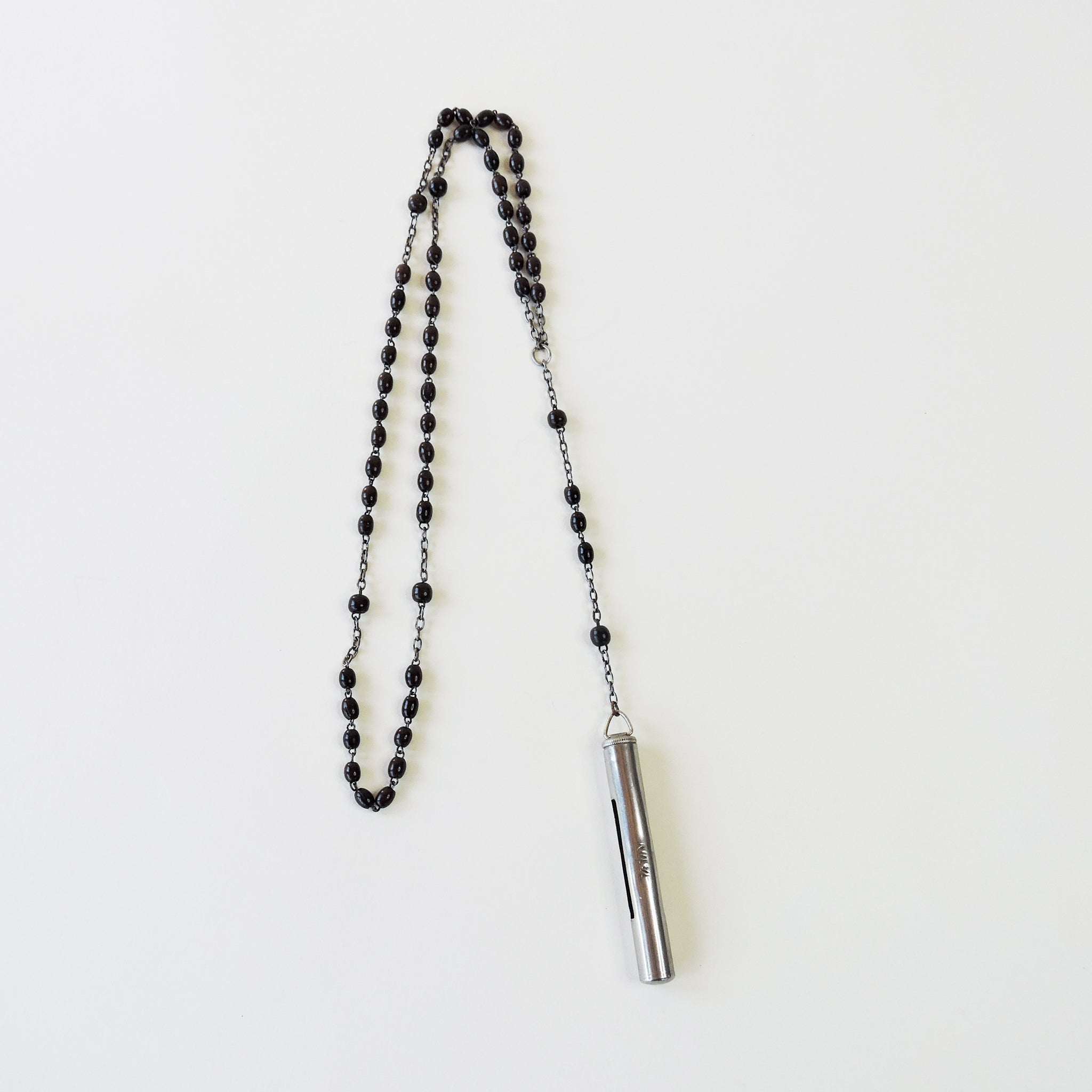 Vintage Extra Long Rosary with Victorian Sand Timer - Blackbird General Store