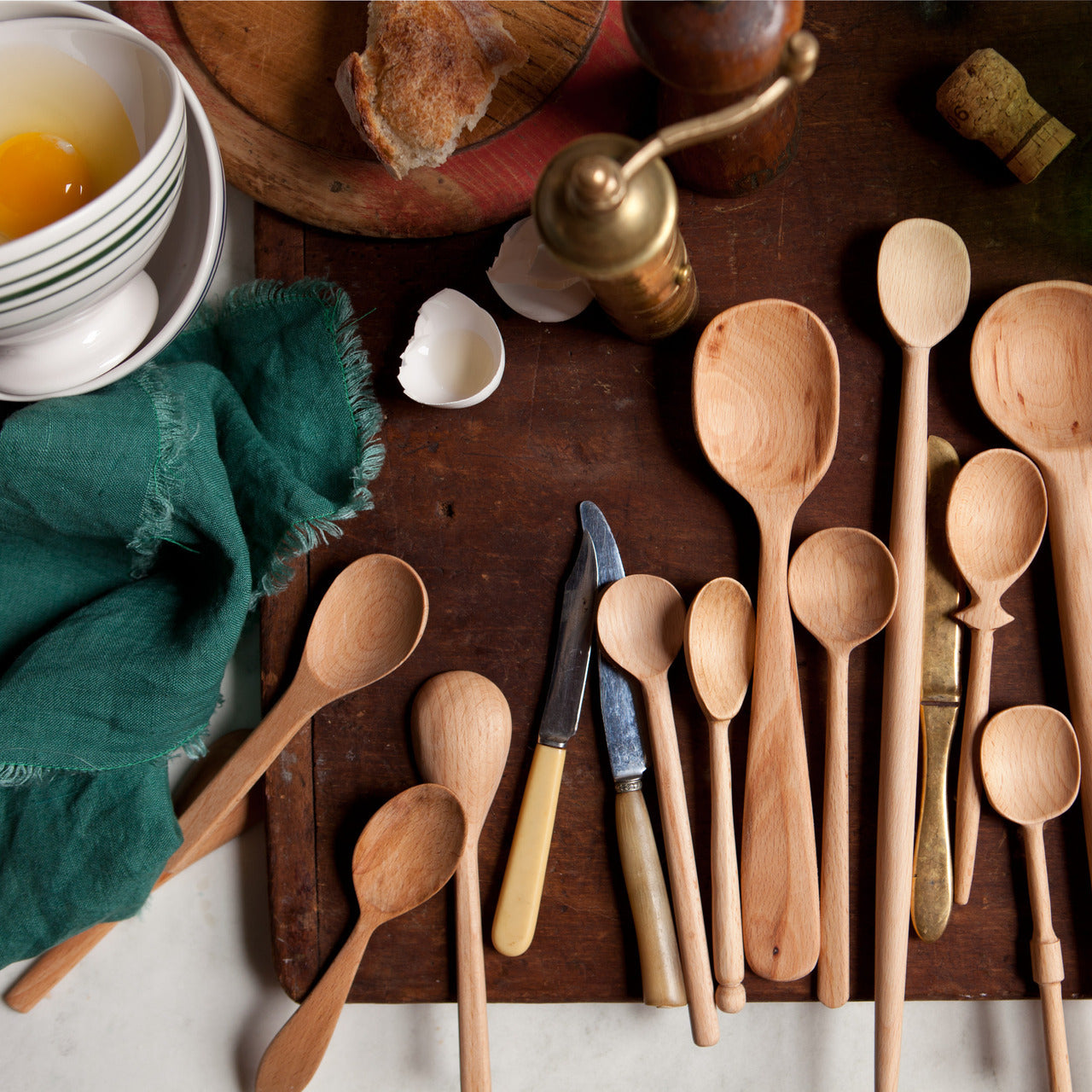 Bakers Dozen Wood Spoons, Lg - Blackbird General Store