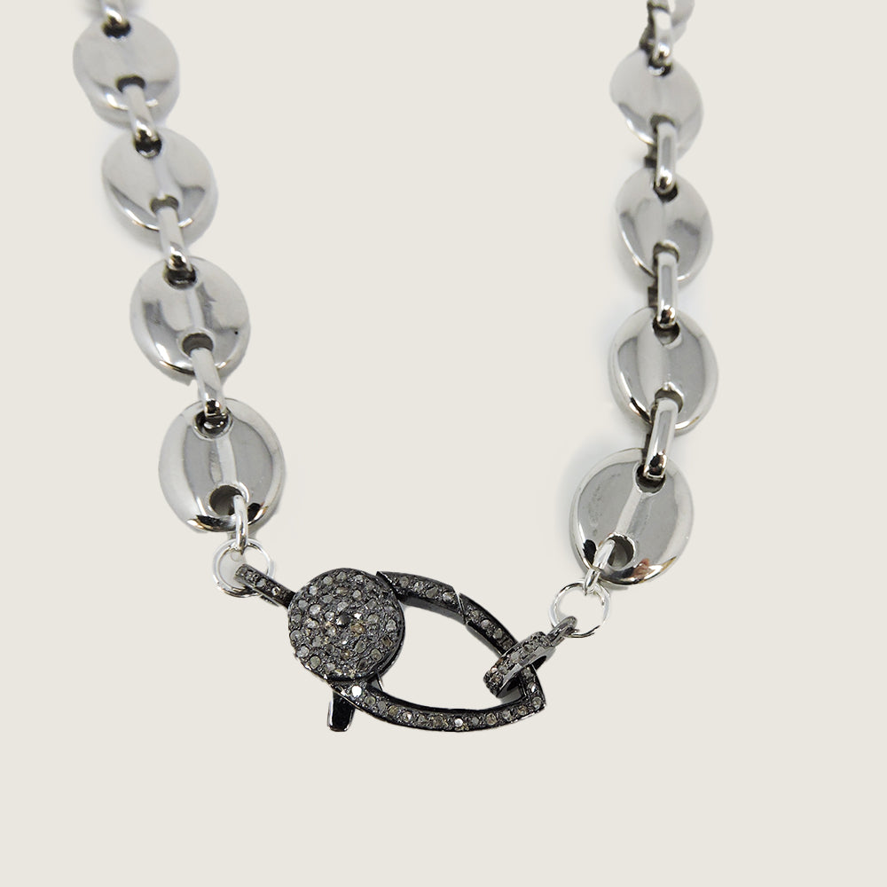 Silver Stainless Diamond Necklace