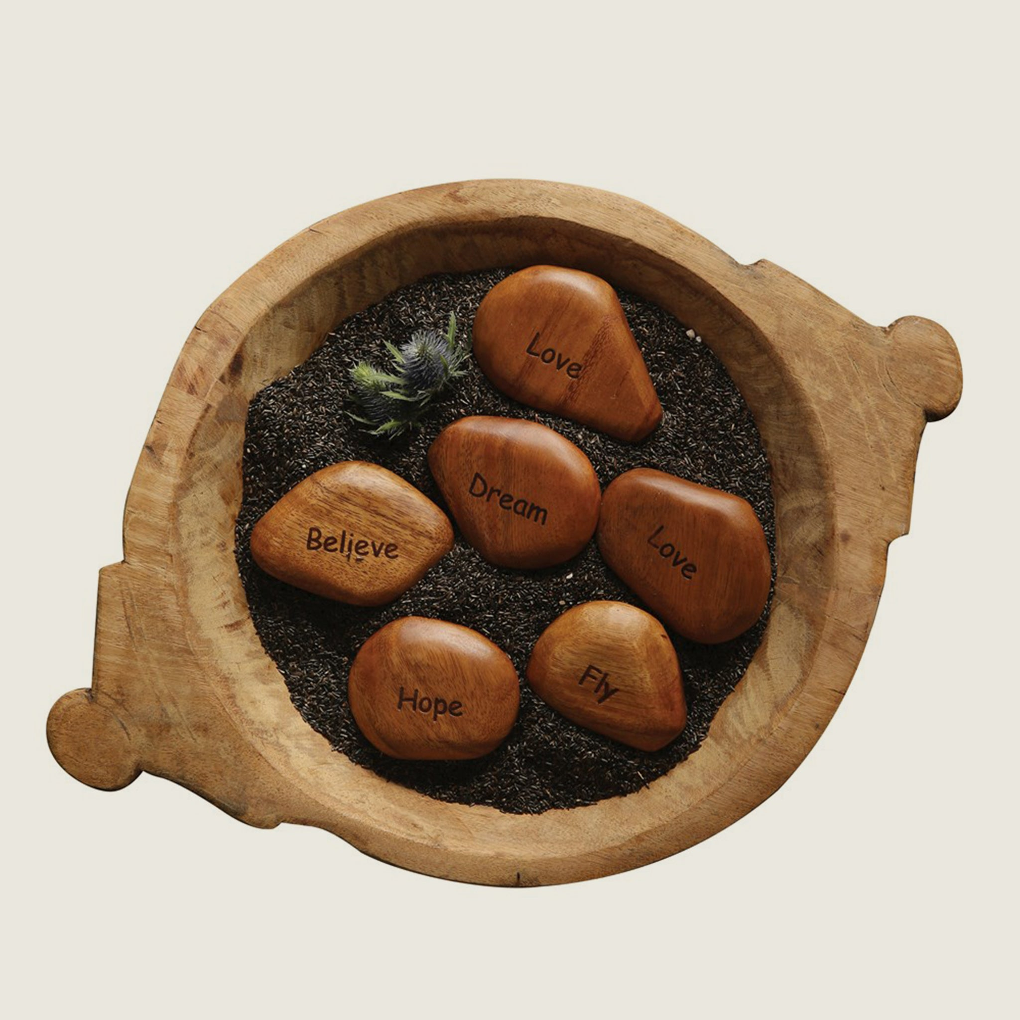Wood Word Stones - Blackbird General Store