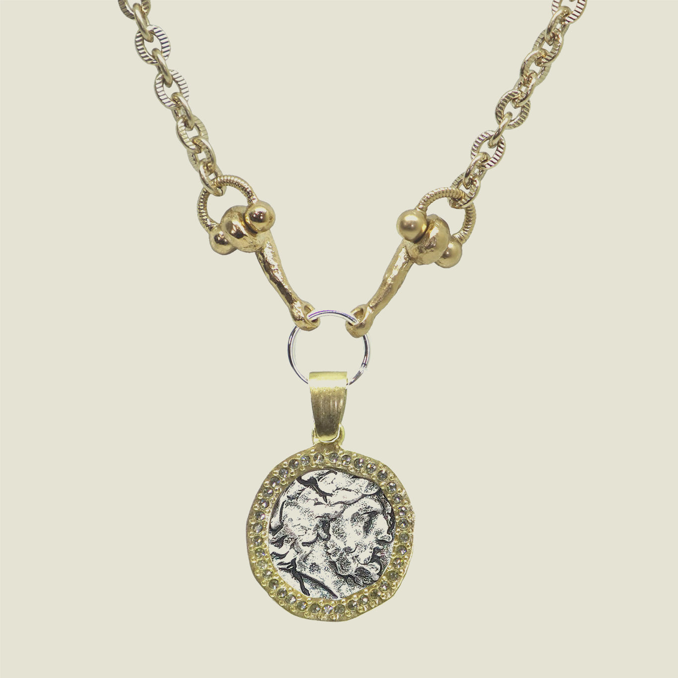 Gold Zeus Horsebit Necklace - Blackbird General Store