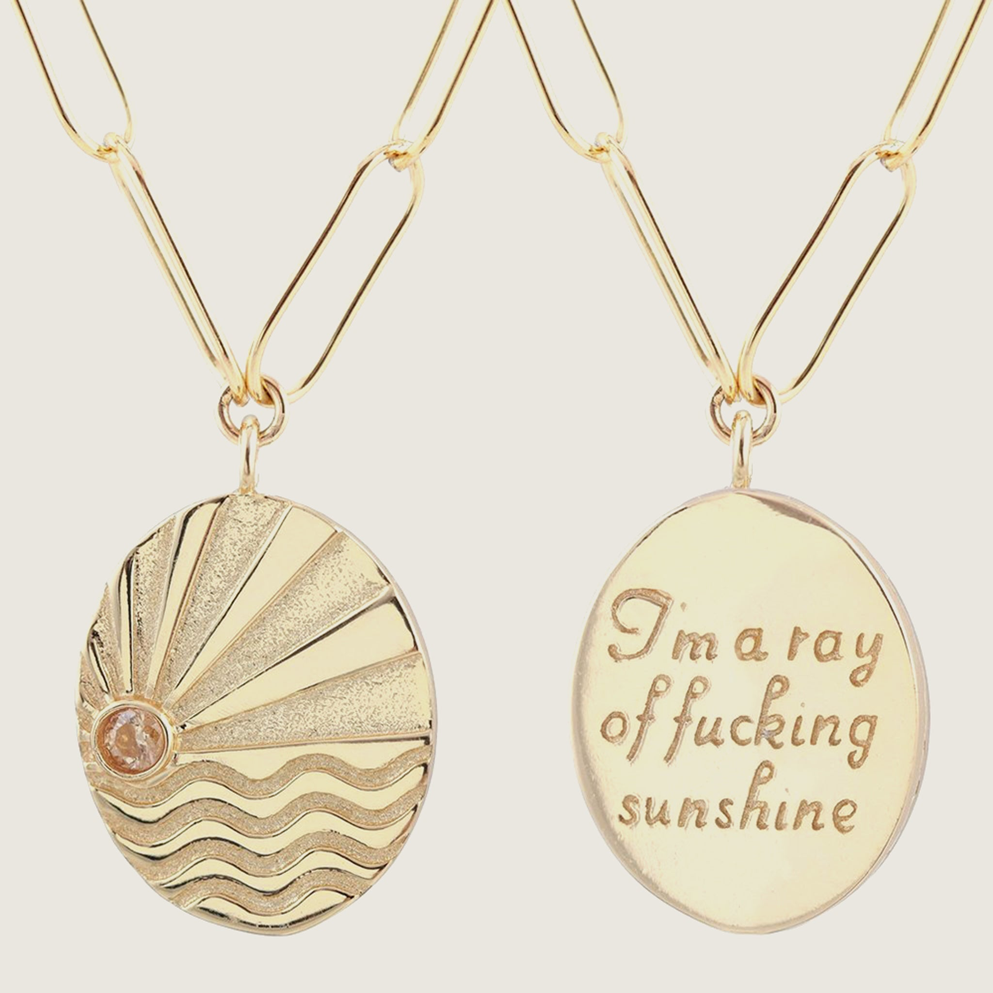 Ray of F*cking Sunshine Link Necklace - Blackbird General Store