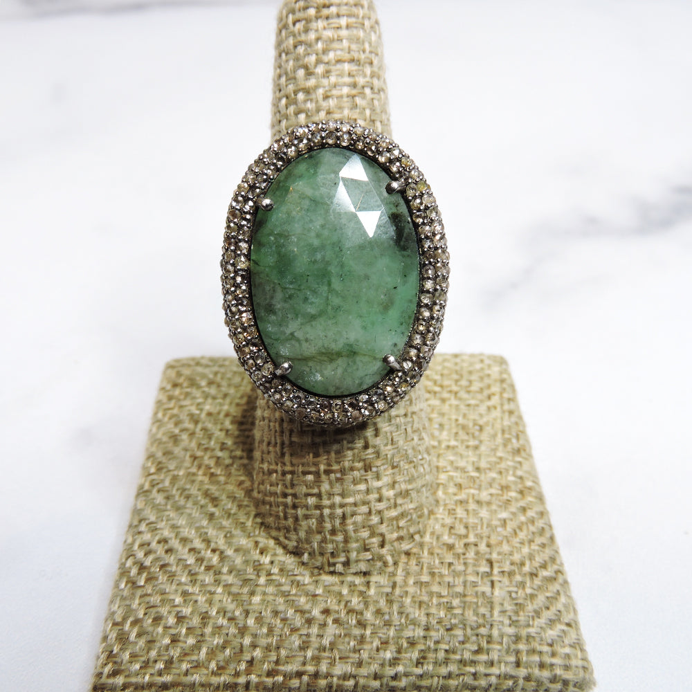 Emerald Oval Ring 7.5 - Blackbird General Store