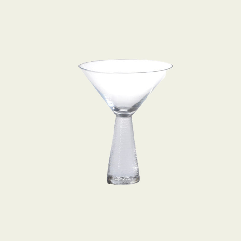 Livogno Martini Glass on Hammered Stem - Blackbird General Store