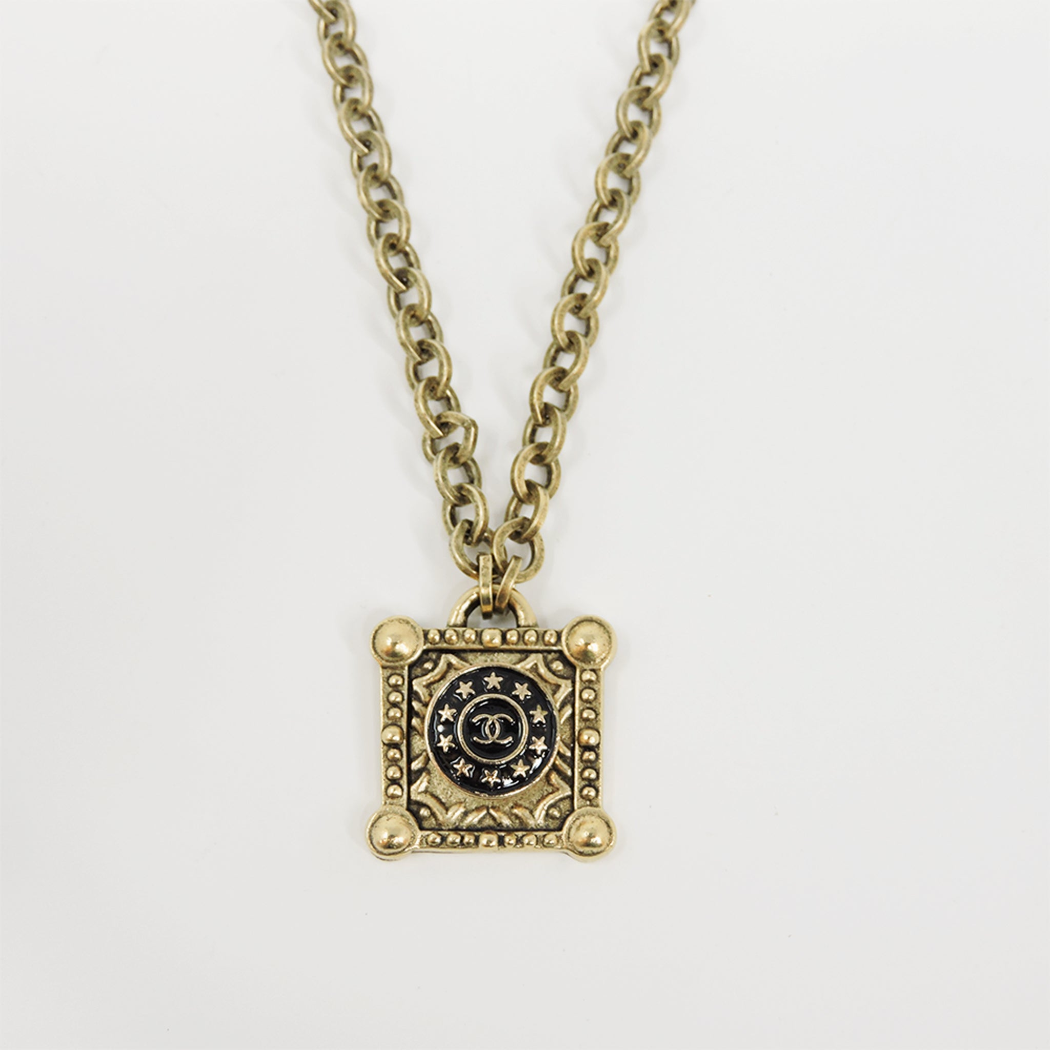 Vintage CC Black Star Necklace