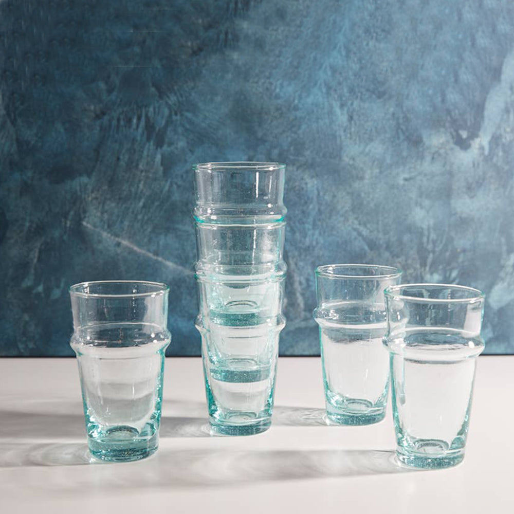 Moroccan Beldi Glasses - Set of 6 - Blackbird General Store