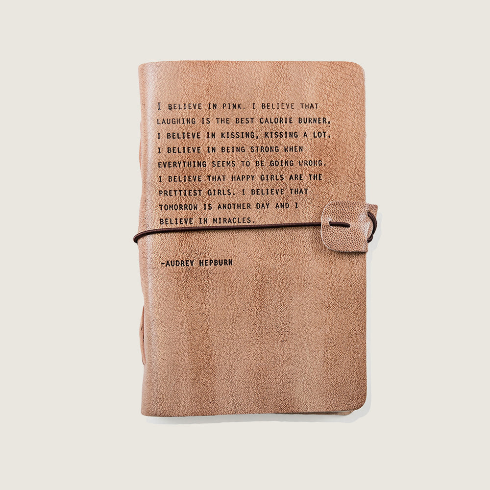 Engraved Leather Journal - Multiple Quotes - Blackbird General Store