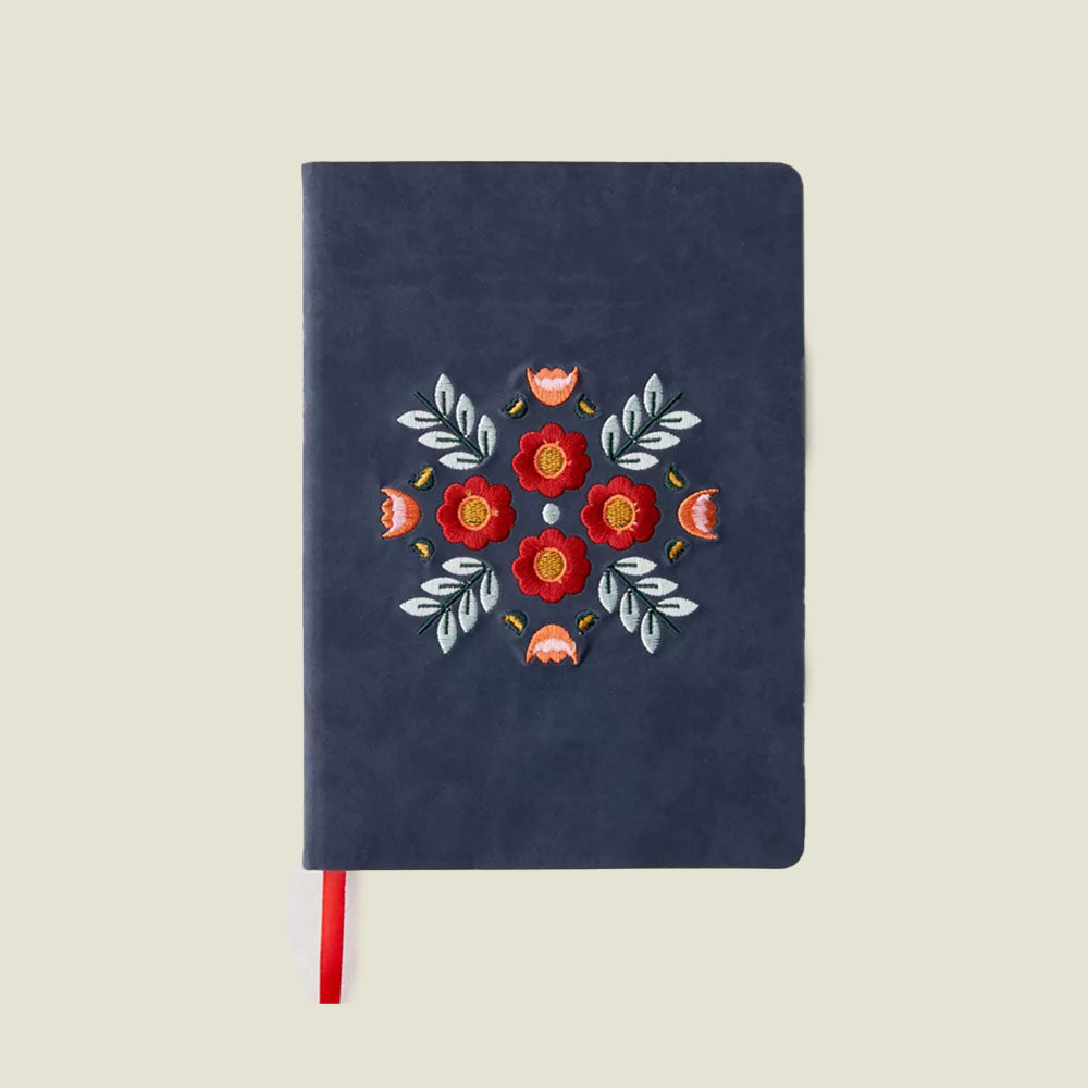 Evelynn Blue Embroidered Journal - Blackbird General Store