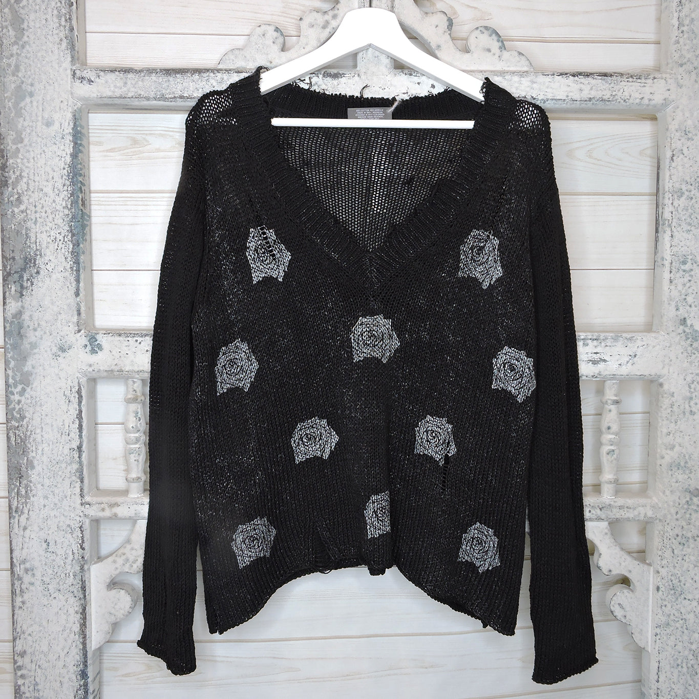 Destroyed Rose Sweater - Blackbird General Store
