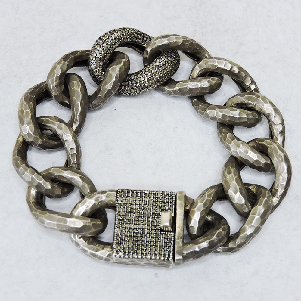 Heavy Chain Diamond Link Clasp
