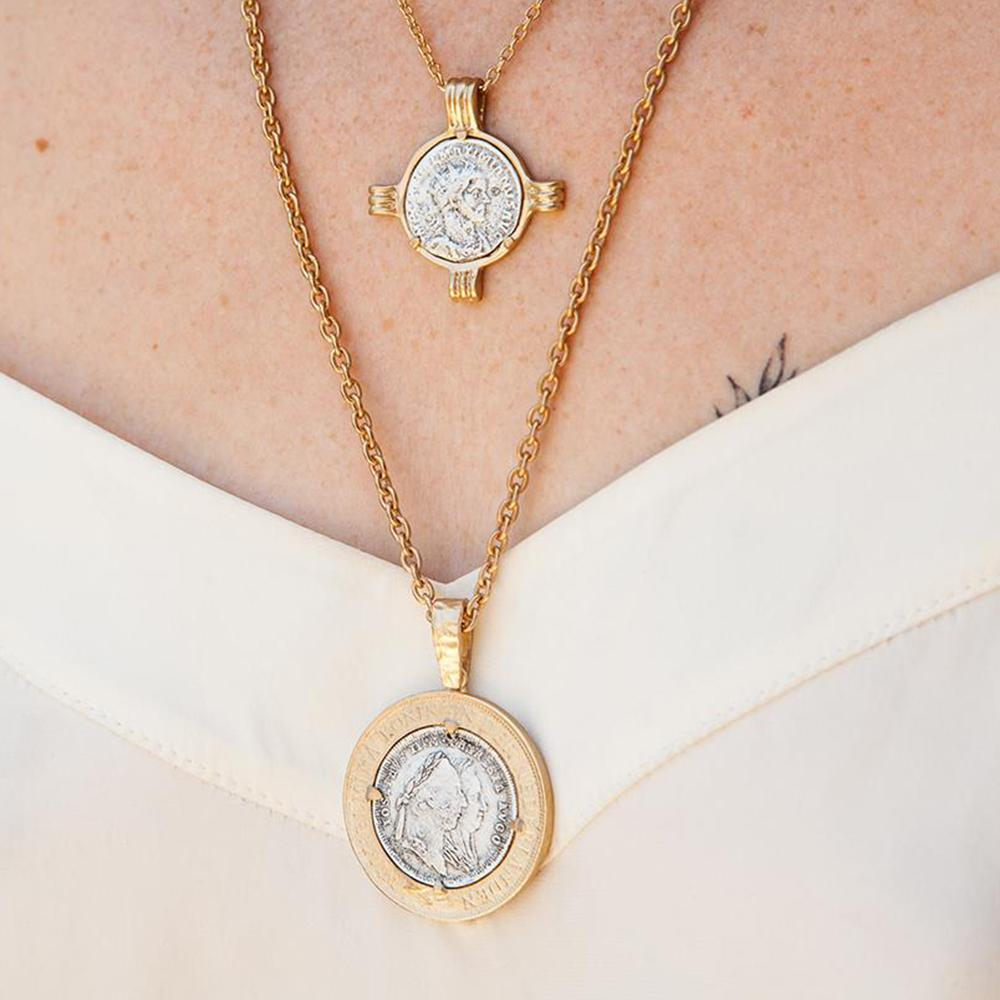 Gold Maria Theresa Coin Necklace - Blackbird General Store