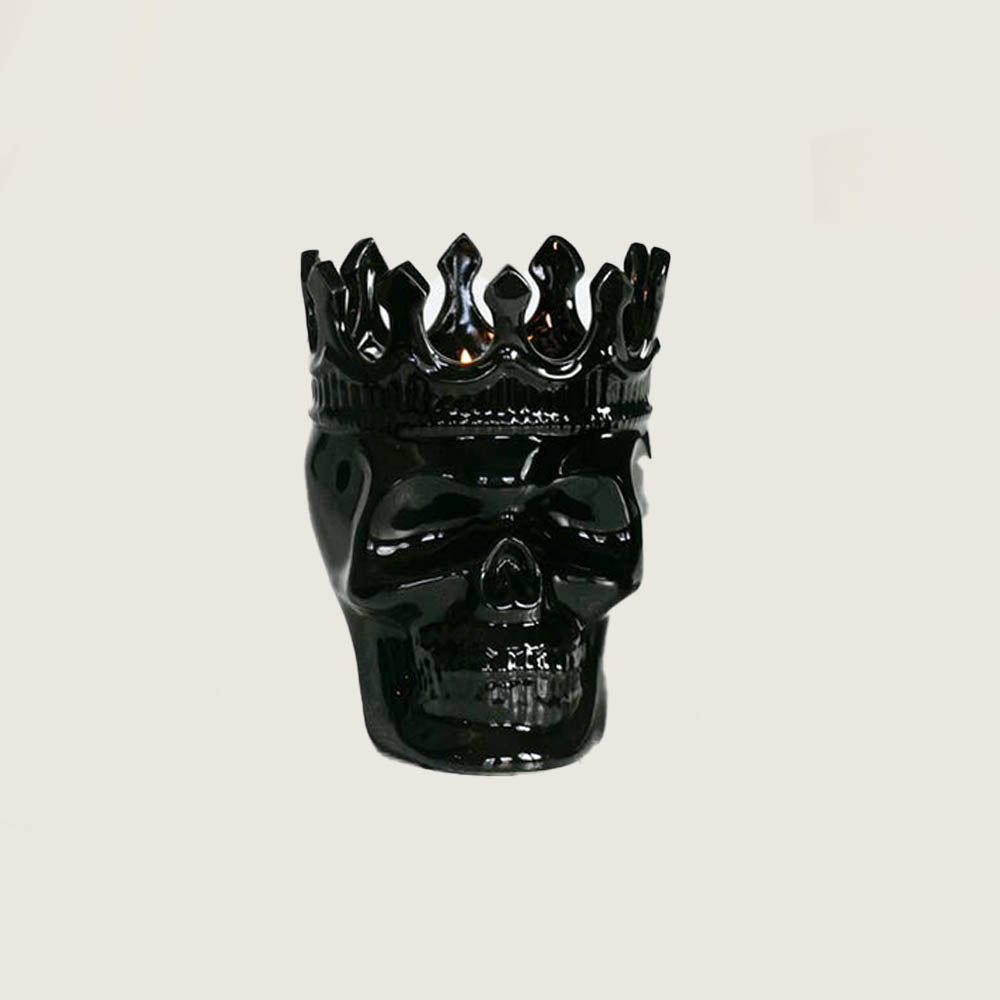 Black Dantes Skull Candle