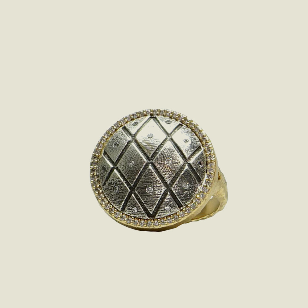Gold Mini Fishnet Ring - Blackbird General Store