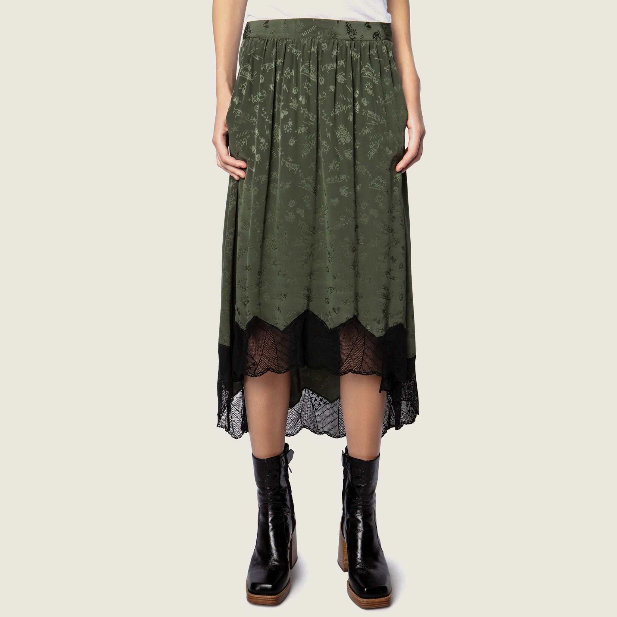 Joslin Kaki Skirt - Blackbird General Store