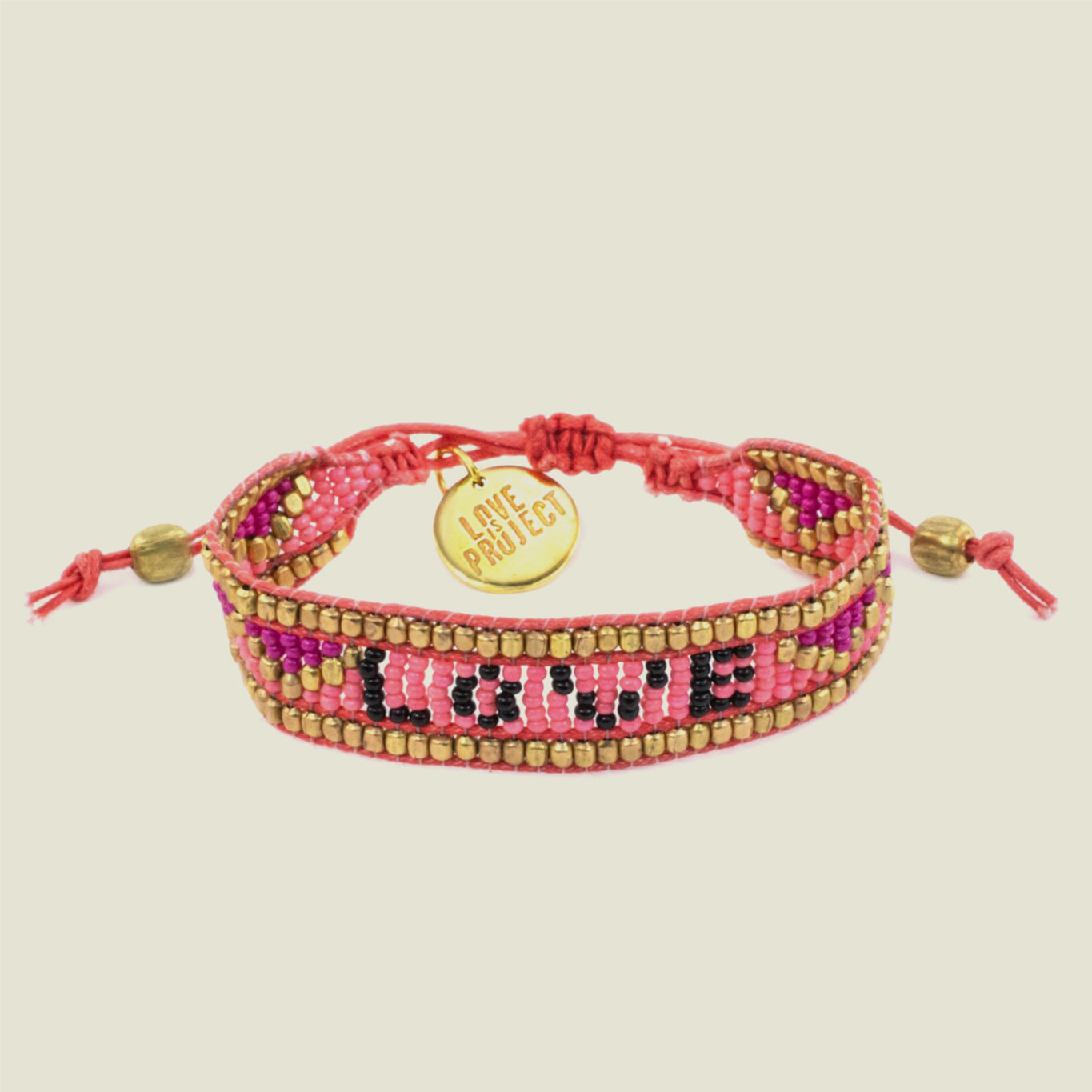 Pink LOVE Bracelet - Blackbird General Store