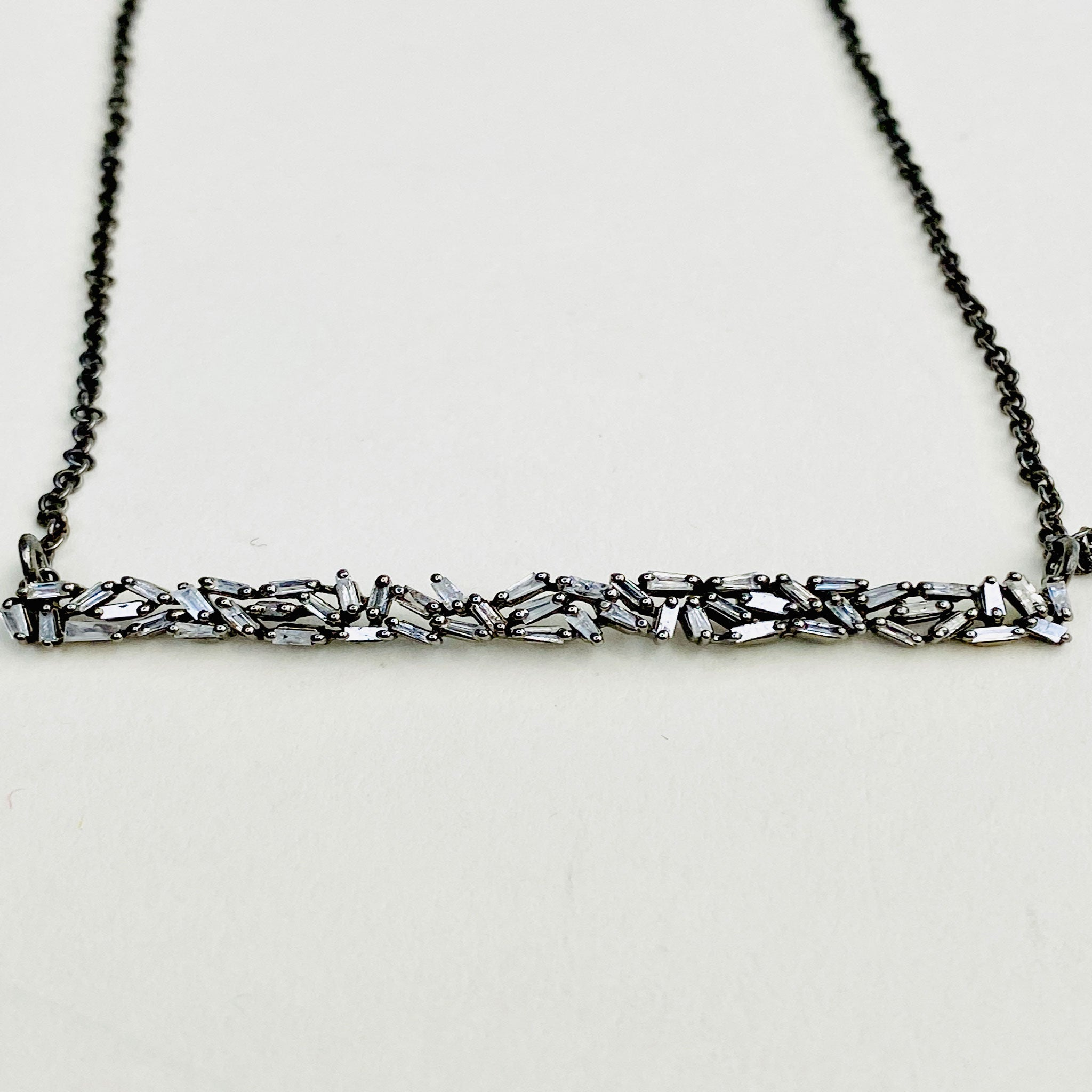 Diamond Baguette Necklace - Blackbird General Store