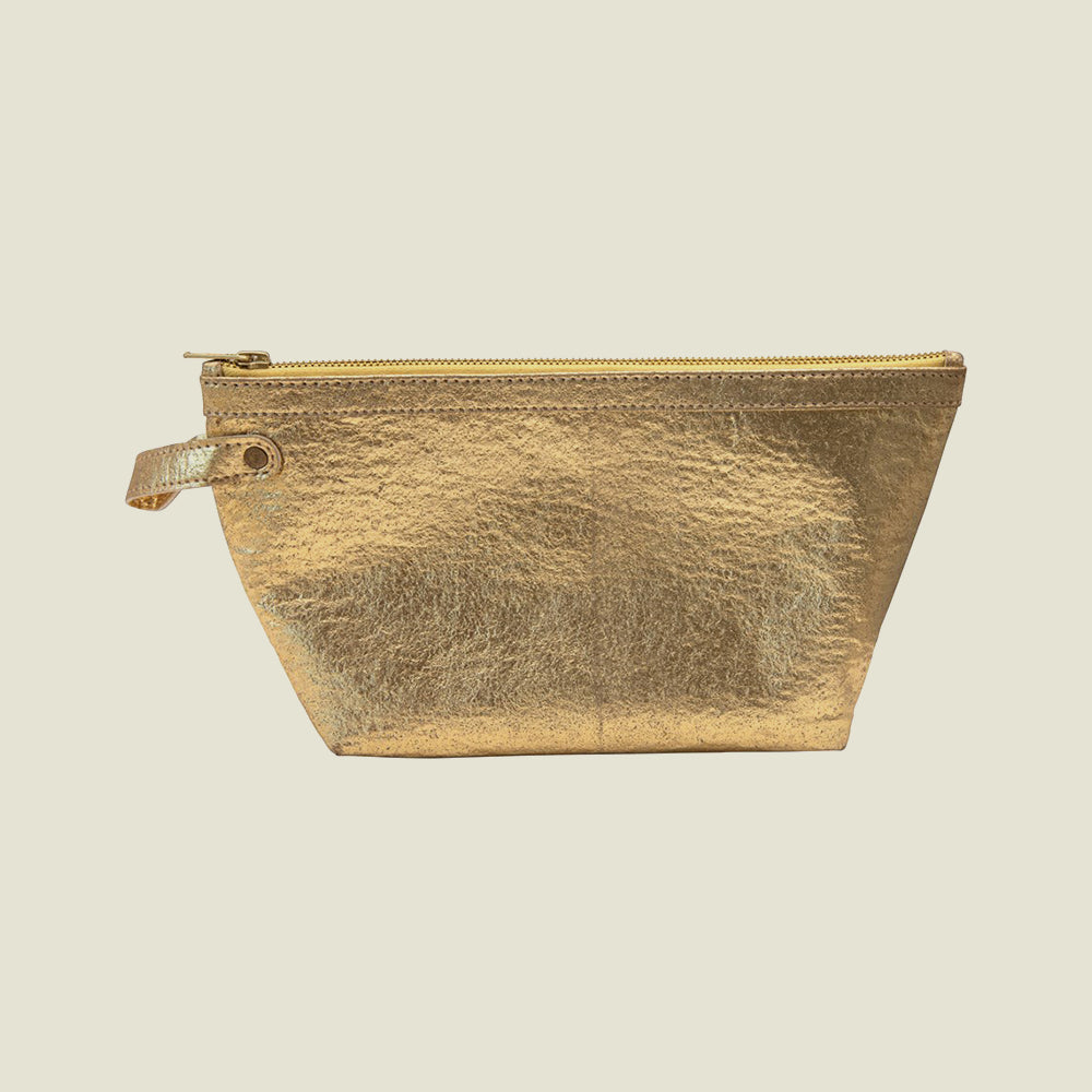 Gold Leather Pouch - Blackbird General Store