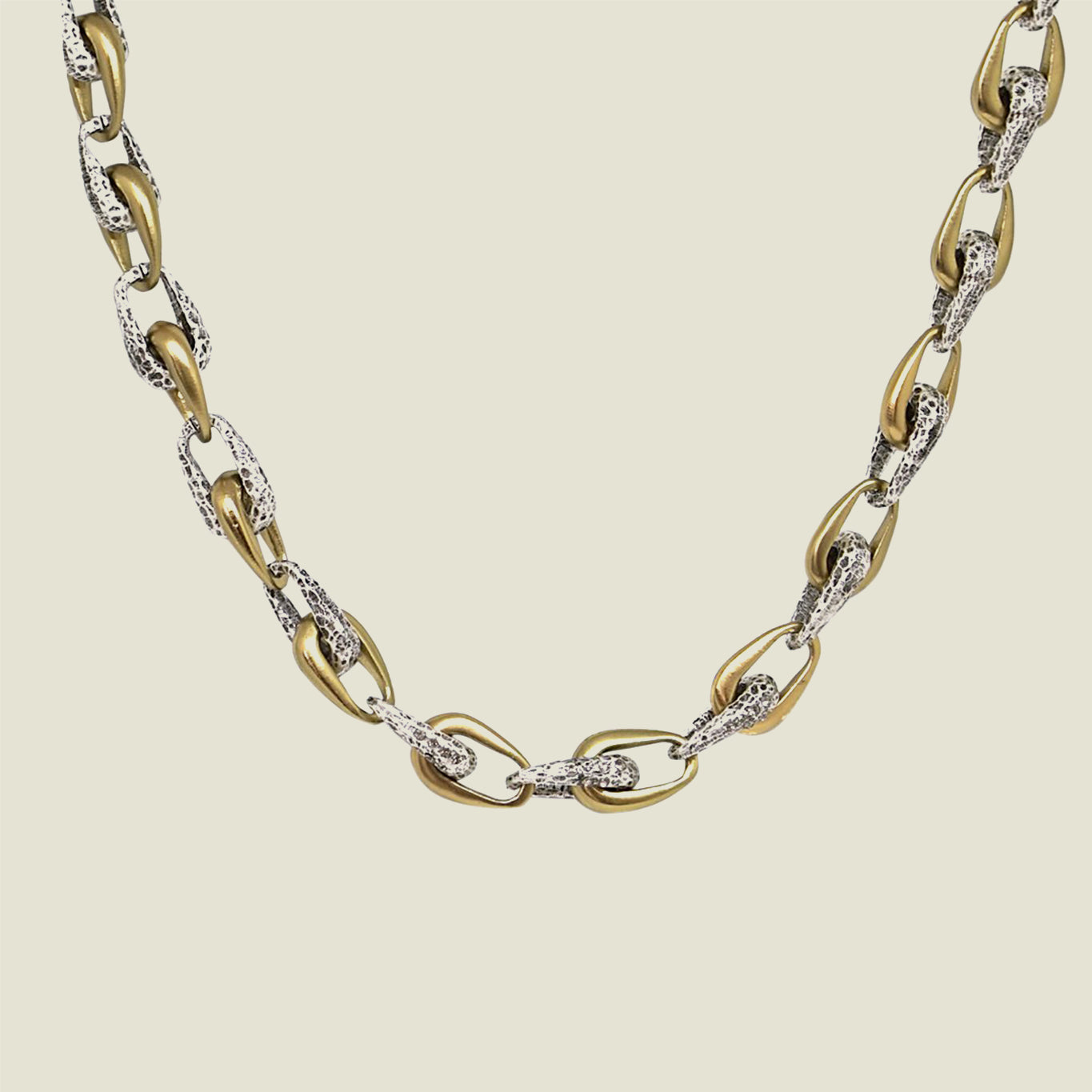 Two Tone Connected Link Necklace - Blackbird General Store