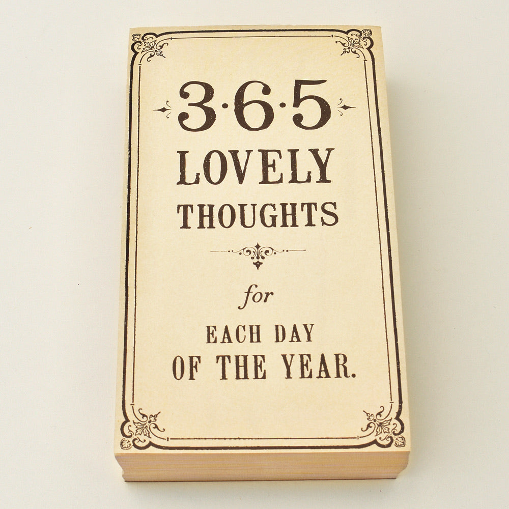 365 Lovely Thoughts Notepad - Blackbird General Store