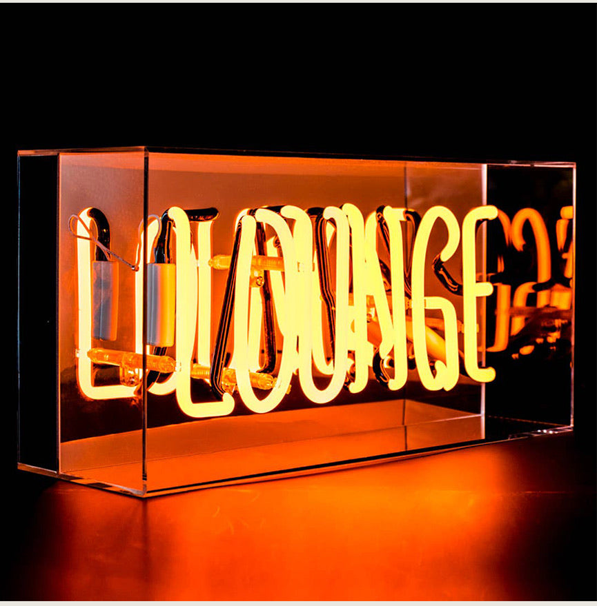 Lounge Neon Acrylic Box - Blackbird General Store