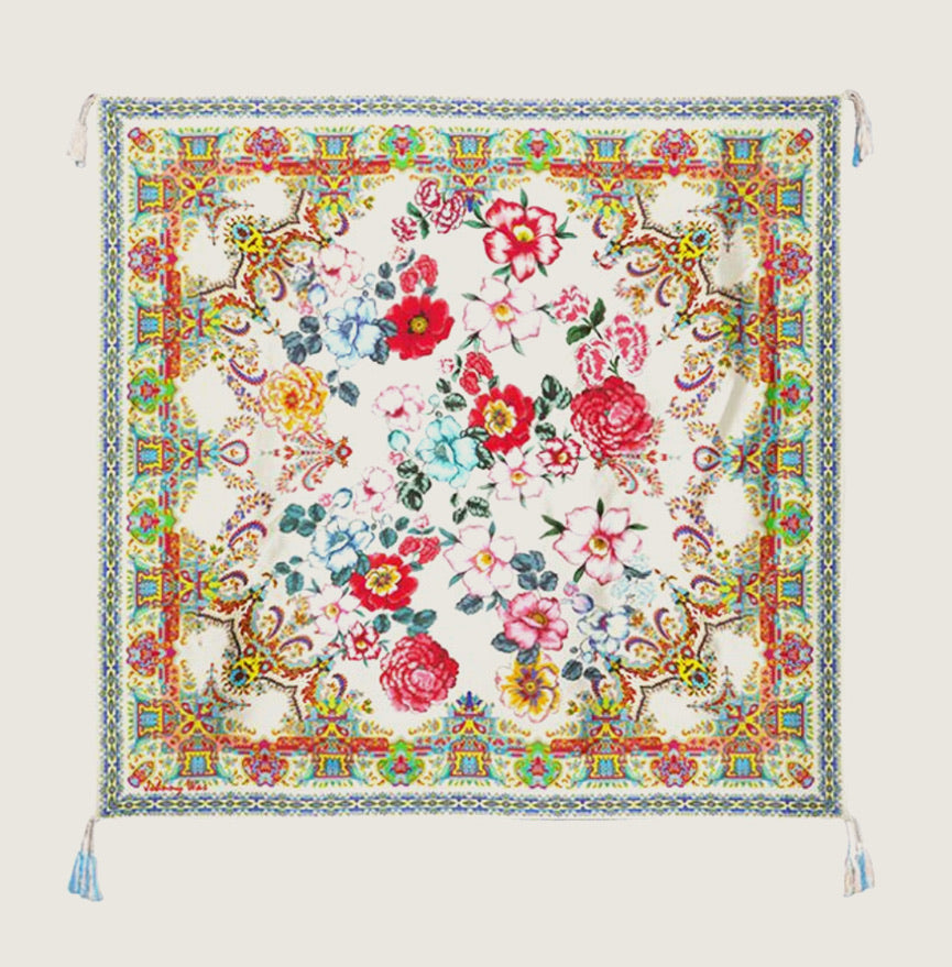 Paisley Flower Scarf - Blackbird General Store