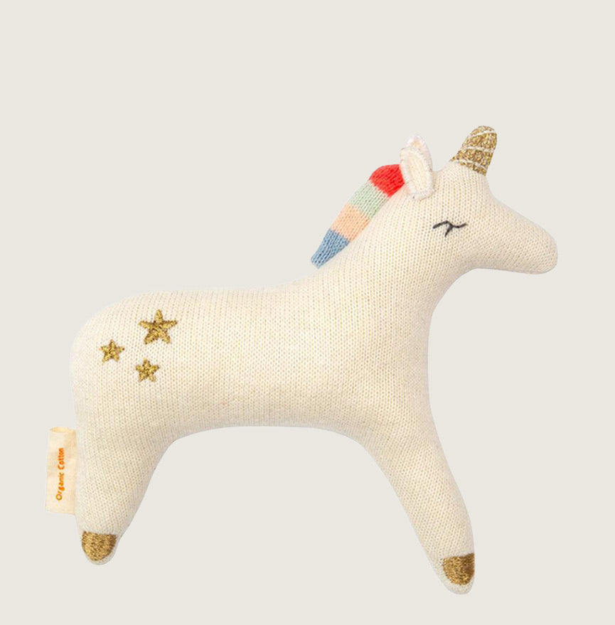 Unicorn Baby Rattle - Blackbird General Store