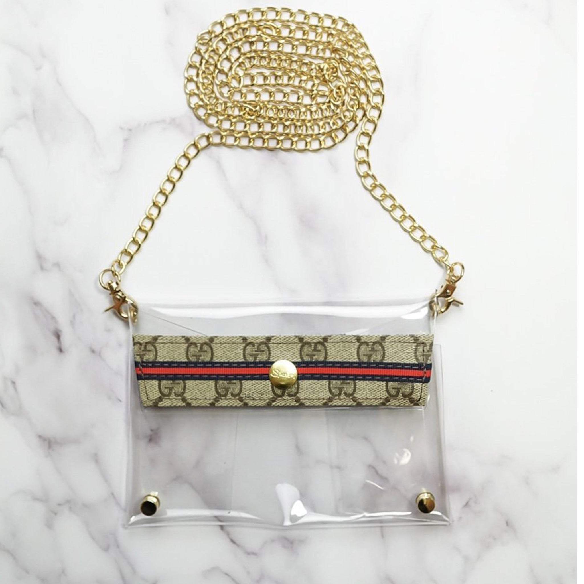 Small Clear Upcycled Gucci Crossbody - Blackbird General Store