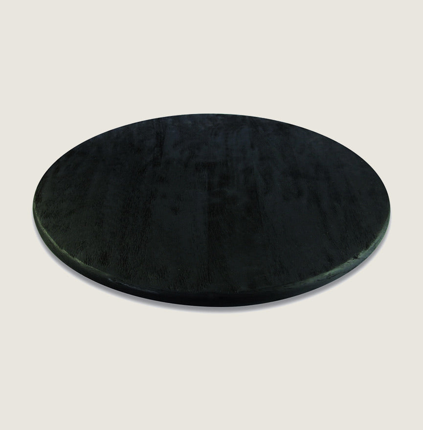Lazy Susan - Black or Natural Mango Wood - Blackbird General Store