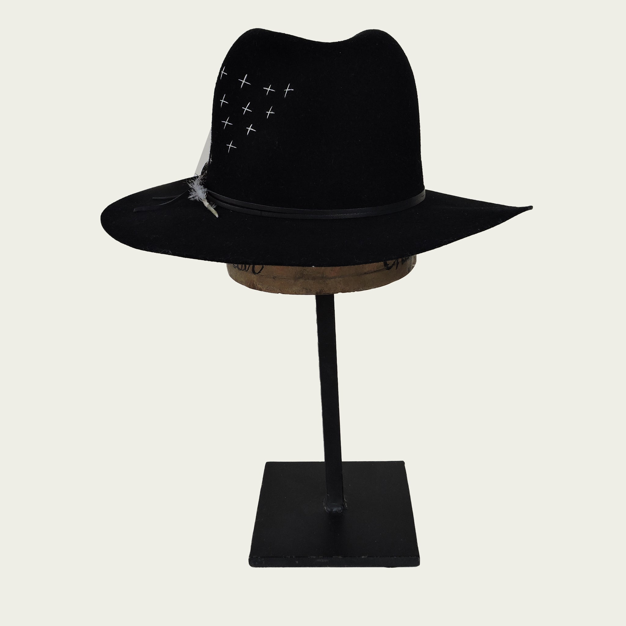 Brooklyn Fedora w/ Cross Stitch Embroidery - Blackbird General Store