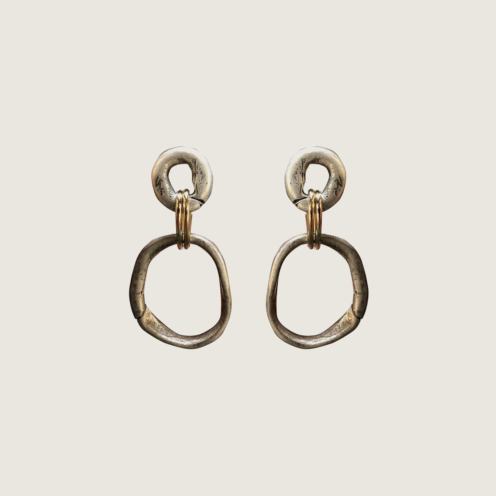 Silver and Gold Loop Earrings - Blackbird General Store