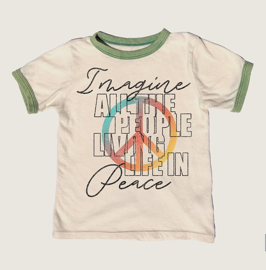 Imagine Ringer Tee - Blackbird General Store