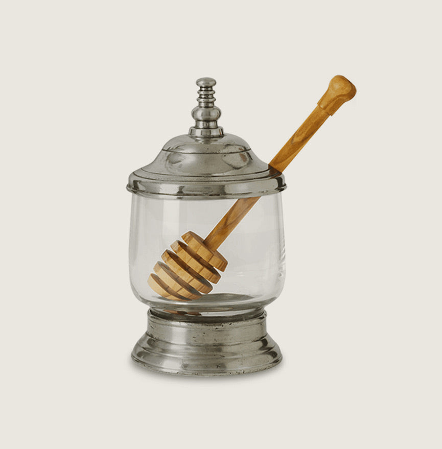 Pewter Honey Jar w/ Wood Dipper - Blackbird General Store