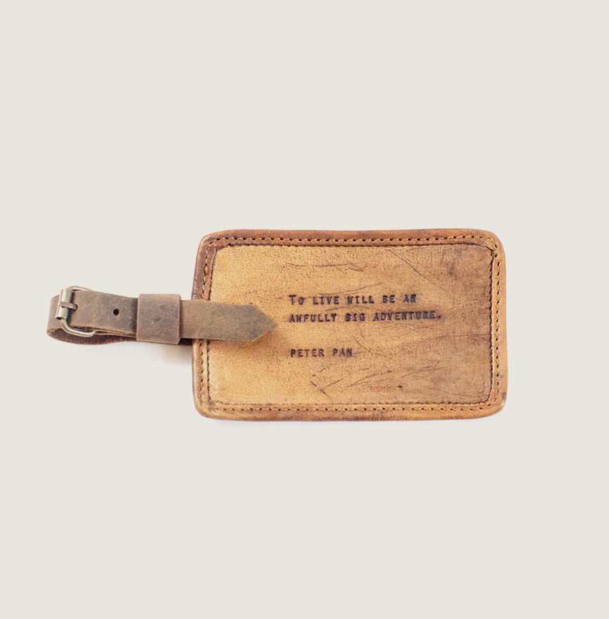 Leather Luggage Tag - Blackbird General Store