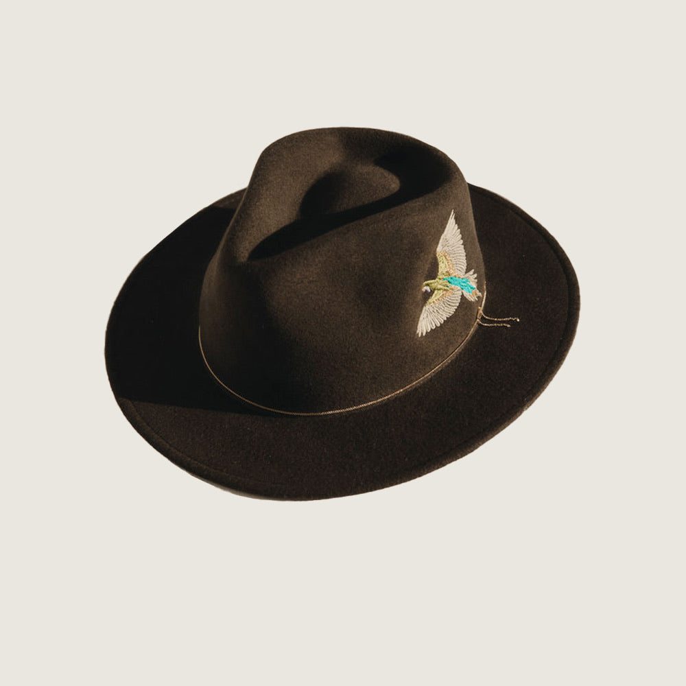 Dakota Kaki Moon Crushable Bird Hat - Blackbird General Store