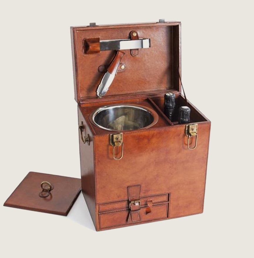 Leather Portable Wine Bar - Blackbird General Store