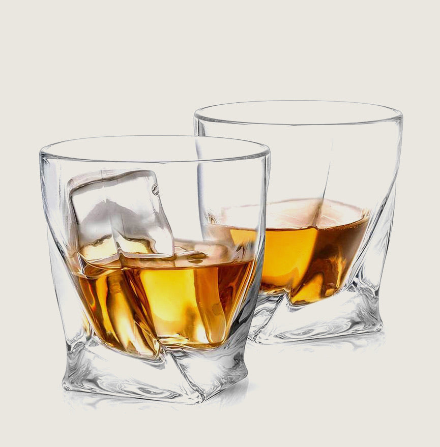 Atlas Crystal Whiskey Glasses - Set of 2 - Blackbird General Store