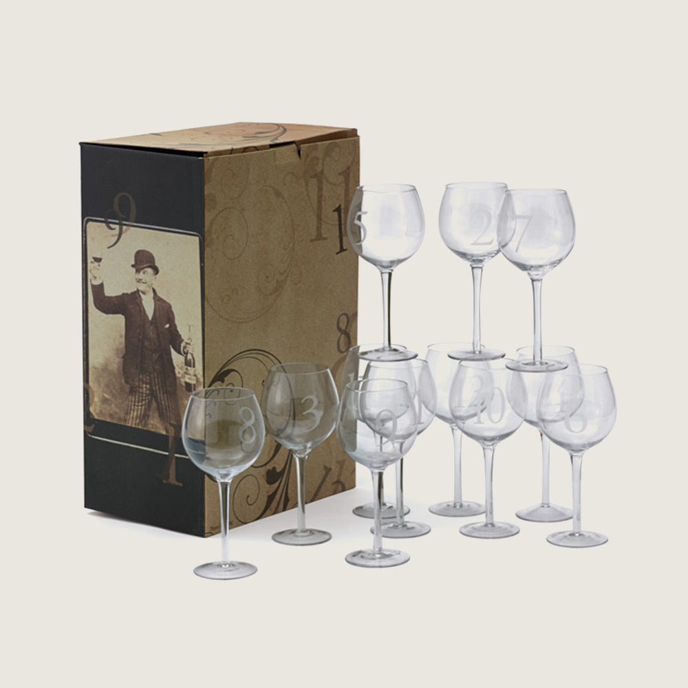 Numerology Wine Glasses (Set of 12) - Blackbird General Store