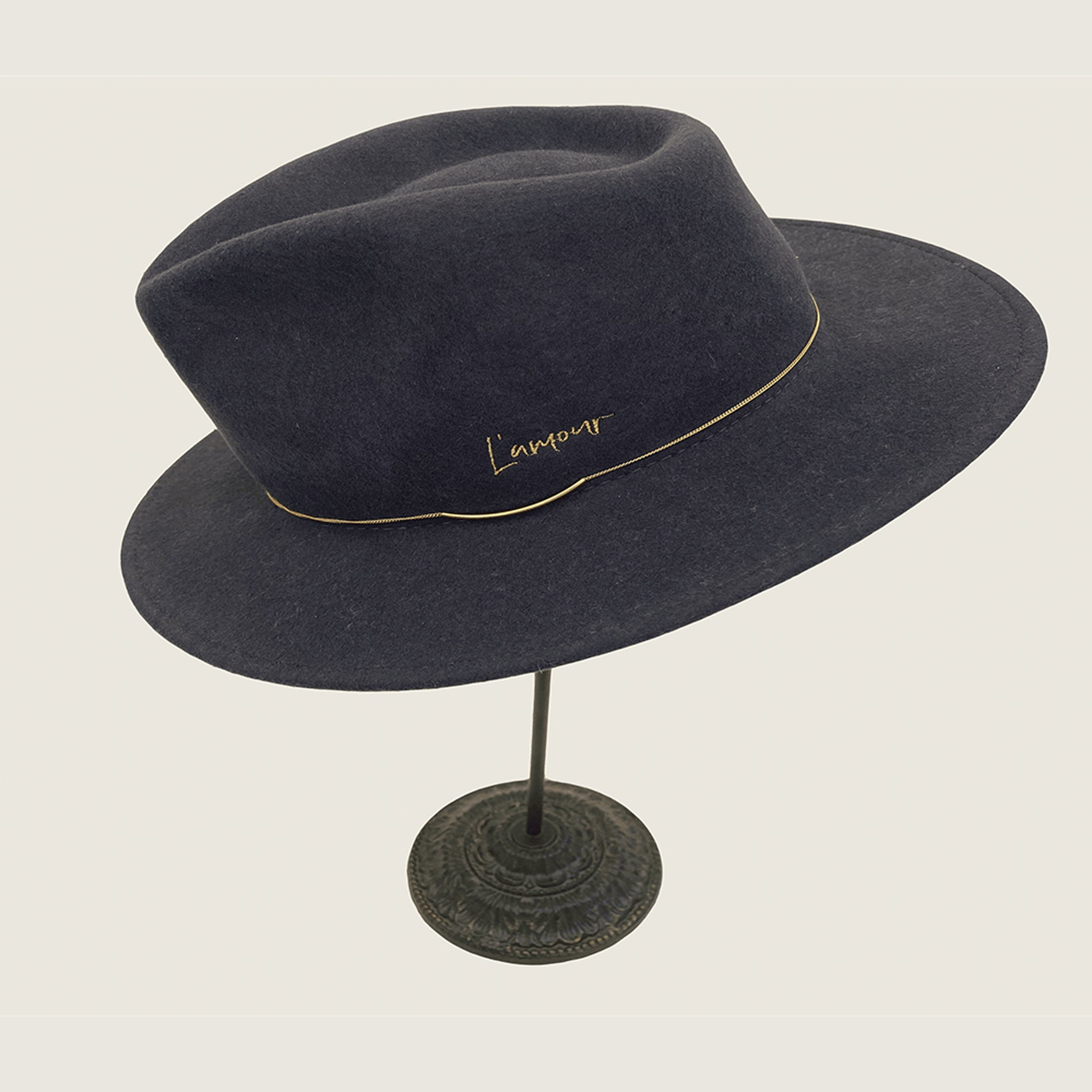Valentin Grey Crushable L'Amour Hat - Blackbird General Store