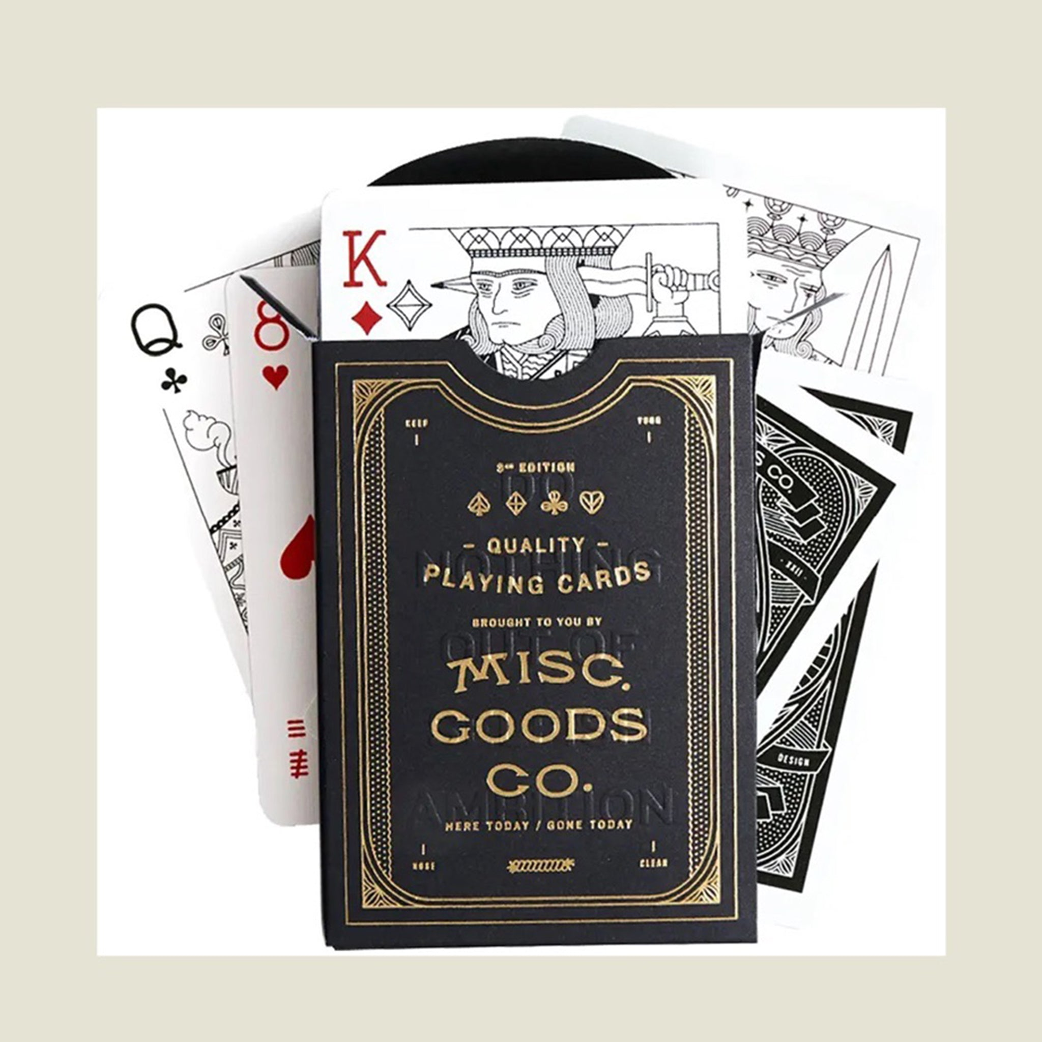 Black & Gold Playing Cards - Blackbird General Store