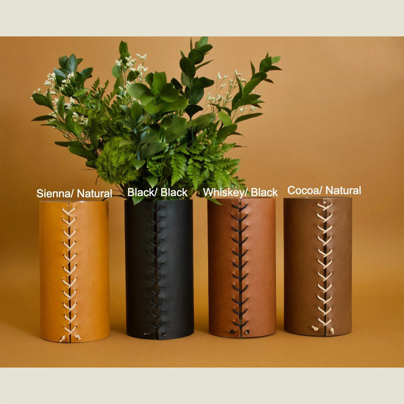 Leather Wrapped Vase - Blackbird General Store