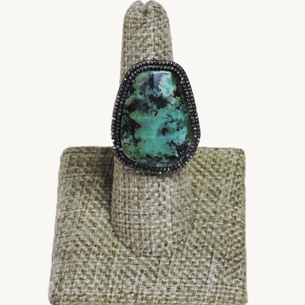 Galaxy Diamond Turquoise Ring - Blackbird General Store
