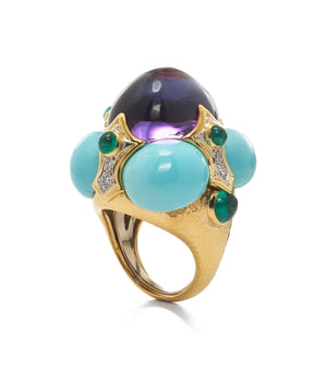 David Webb - Colors - Turban Ring - Amethyst