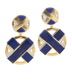David Webb - XO Earrings - Lapis Lazuli