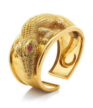 David Webb - Kingdom - Alligator Repousse Cuff