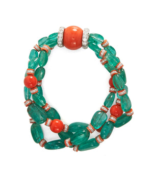 David Webb - Colors - Bead Bracelet - Emerald