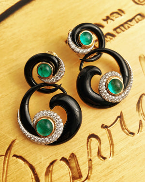 Ink Scroll Earrings