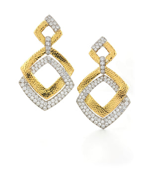 Madison Double Square Earrings