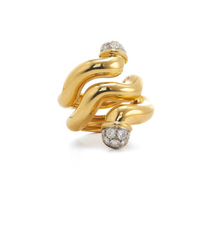 Wave Double Tipped Nail Ring