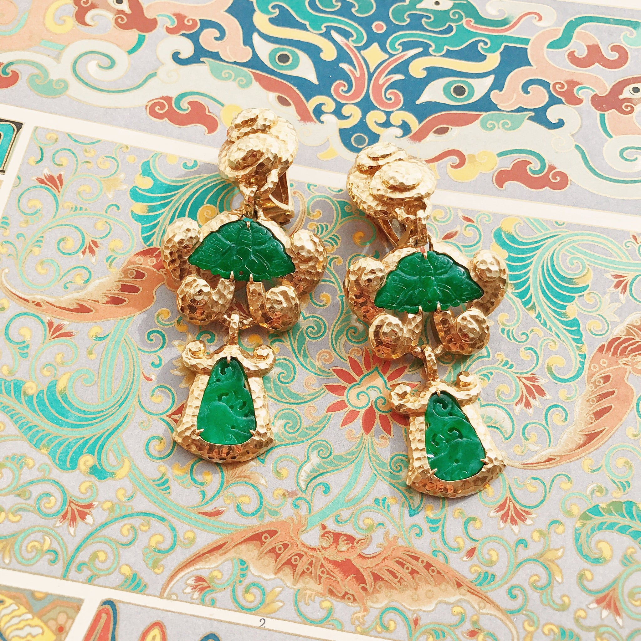 Scroll Jade Earrings