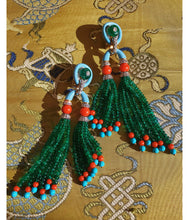 Pagoda Tassel Earrings